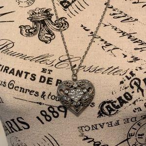 Jewelry - Heart with rhinestone necklace